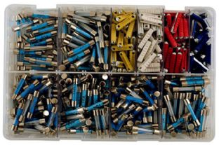Connect 31859 Assorted Auto Fuses-Glass & Ceramic Box Qty 480